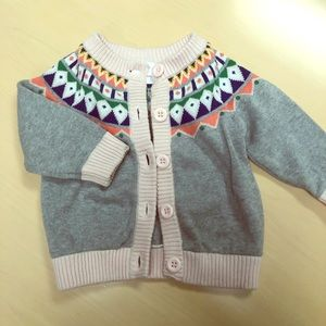 Hanna Andersson infant girl Fair Isle cardigan